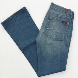 7 For All Mankind Lightwash Bootcut Jeans 27